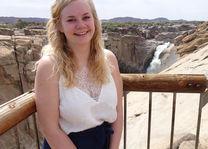 Annefleur bij de Augrabies watervallen
