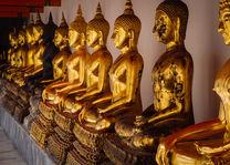 Boeddhabeelden in Wat Pho - Thailand - foto: flickr