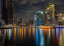 Dubai Marina - haven avond - Dubai - foto: pixabay