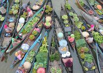 Indonesië - Kalimantan - markt op de rivier - foto: pixabay