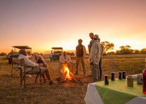 Kwando Lebala Camp - kampvuur - Linyanti - Botswana - foto: Kwando Lebala Camp