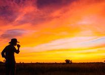 Kwando Lebala Camp - zonsopgang - Linyanti - Botswana - foto: Kwando Lebala Camp