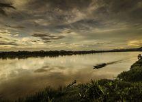 Laos - Pakbeng - Mekong rivier - zonsondergang - foto: pixabay