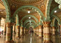 Mysore stadspaleis interieur Karnataka India