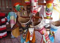 Thailand - Dan Sai Folk Museum - maskers - foto: Floor Ebbers
