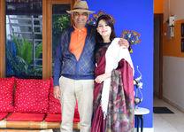 Vandna en Gopal Singh - van Coral Tree - Agra - India