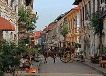 straatbeeld Vigan paard en wagen - Filipijnen - Intas - CTTO - foto: Intas
