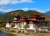 Vesting, Punakha Dzong - Bhutan - foto: Archief