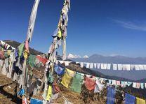 Chele La vallei met uitzicht op Jomolhari - Chele La vallei - Bhutan - foto: Mieke Arendsen
