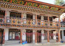 lokaal huis in Bhutan - Bhutan - foto: Mieke Arendsen