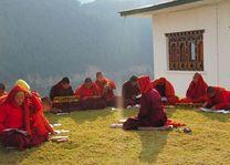 nonnen Wolakha nunnery in Punakha - Punakha - Bhutan - foto: Mieke Arendsen
