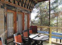 balkon van Chumey Nature Resort - Chumey Nature Resort - Bhutan