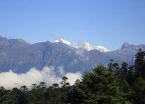 Uitzicht vanaf Druk Path op Jomolhari - Druk Path - Bhutan - foto: Lokale agent