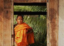 Cambodja - Kratie - jonge monnik