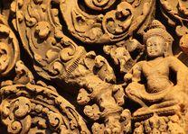 Detail Banteay Srei Temple Angkor Tempel in Siem Reap - Siem Reap - Cambodja - foto: Janneke Zwiers