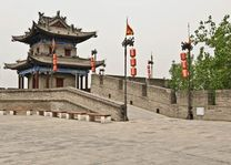 muur - Xi'an - China - foto: rechtenvrij