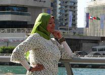 Vrouw op The Walk - Dubai