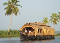 Houseboat met palm - Backwaters - India