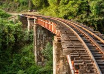Rails, Nilgiri mountain, Mettupalayam  (Ooty) - India - foto: Archief