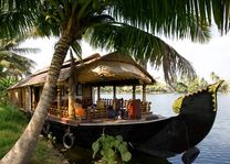 Boot restaurant, Kerala backwaters - India - foto: Archief