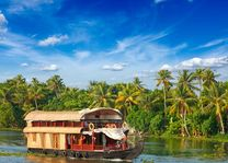 Varende boot restaurant, Kerala backwaters - India - foto: Archief