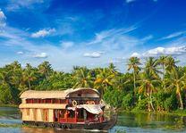 Varende boot restaurant, Kerala backwaters - India - foto: Archief