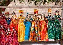 Indische poppenkast Rajasthan Jodhpur - India - foto: Archief