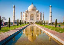 Vooraanzicht Taj Mahal - India - foto: Archief