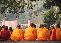 monikken bij Bodhgaya - Bodhgaya - India - foto: Archief