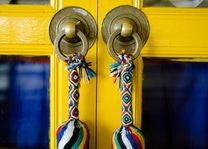 kleurrijke deur in Ladakh - Ladakh - India - foto: Ashfaq Rah
