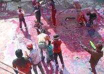 spelende kinderen tijdens Holi festival - India - foto: rechtenvrij