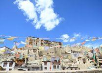Leh stadsbeeld met paleis - Leh - India - foto: Ashfaq Rah