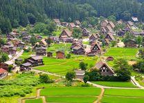 historisch japans dorpje Shirakawa-go - Japan - foto: Archief
