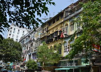 koloniale huizen - centrum - Yangon - Myanmar - foto: Daniel de Gruiter