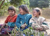 3 hmong meisjes - Laos