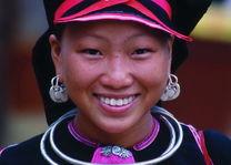 hmong vrouw close up - Laos