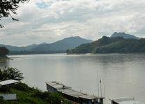 Uitzicht op Mekong vanuit Luang Prabang - Luang Prabang - Laos