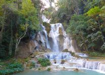 Kuangsi watervallen in Laos - Laos