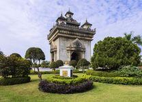 Tempel, Patuxai - Laos - foto: Archief
