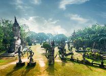 Wat Xieng Khuan Buddha park. Vientiane, Laos - Laos Vientiane - Laos