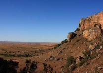 Landschap Isalo - Isalo - Madagaskar - foto: Martijn Visscher