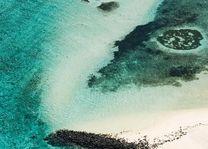 verlaten strand - Mauritius