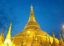 Shwedagon Pagode 's avonds - Yangon - Myanmar - foto: Berry ter Horst