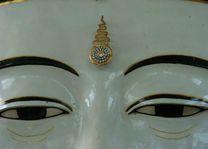 detail ogen Boedha - Monywa - Myanmar - foto: Berry ter Horst