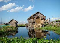 huis op palen - Inle Lake - Myanmar