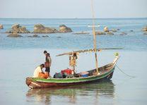 vissersboot - Ngapali - Myanmar