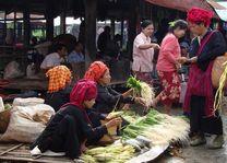 marktvrouwen Inle Lake - Inle Lake - Myanmar