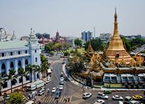 straatbeeld Yangon - Yangon - Myanmar - foto: lokale agent
