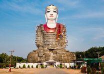 Groot beeld in aanbouw, Mawlamyine, Mon State - Myanmar - foto: Archief