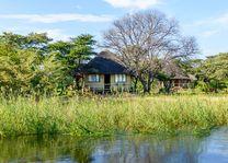 aanzicht van Hakusembe River Lodge - Hakusembe River Lodge - Namibië - foto: Hakusembe River Lodge